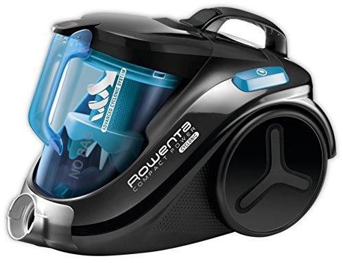 Rowenta RO3731EA Compact Power Cyclonic Bodenstaubsauger 750 W, EEK A, beutellos, 1,5 L, hocheffizienter Filter schwarz/blau
