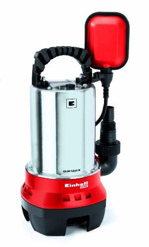 Einhell Schmutzwasserpumpe GH-DP 5225 N 520 W, max. 10000 l/h, max. Förderhöhe 7 m, Fremdkörper bis 25 mm, Edelstahl-Pumpengehäuse
