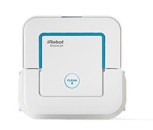 iRobot Braava jet 240 Bodenwischroboter für Küchen, Badezimmer und andere kleine Bereiche, Reinigt Räume bis zu 25m² weiß