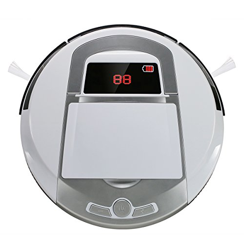 Evertop Roboter Staubsauger Version II, Saugroboter, Staubsauger Roboter 3 Reinigermodel, 1 Std. Laufzeit, HEPA Filter A