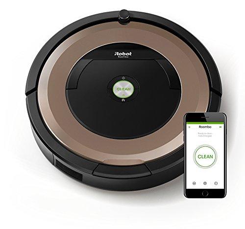 iRobot Roomba 895 Staubsaugroboter fortschrittliche Reinigungsleistung mit Dirt Detect, für alle Böden, ideal bei Tierhaaren, WLAN-fähig, bronze
