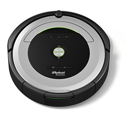 iRobot Roomba 680 Staubsaugroboter hohe Reinigungsleistung mit Dirt Detect, für alle Böden, geeignet bei Tierhaaren, Reinigung nach Zeitplan grau