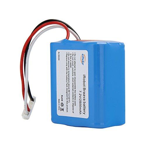 efluky 2500mAh 7,2 V NI-MH Ersatzbatterie für Braava 380.380T, Mint 5200, 5200B, 5200C MOPPING ROBOT etc