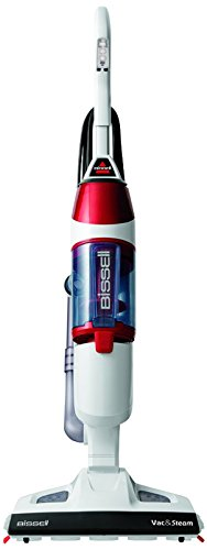 BISSELL Vac and Steam 2-in-1 Vacuum Cleaner – White/Red by BISSELL