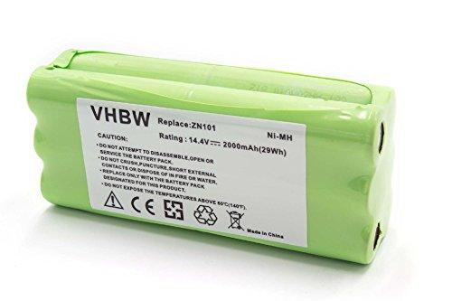 vhbw NiMH Akku 2000mAh 14.4V für Saugroboter Home Cleaner Heimroboter Dirt Devil M610, M611, M612 Spider 2.0, Puck M610, M610-1
