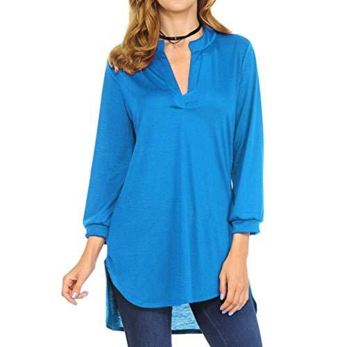 Blusen Damen Lässig Chiffon Shirt Hemd Sexy Pullover Langarm V-Ausschnitt T-Shirt Frauen Bluse Oberseiten Streetwear Sweatshirt,ABsoar …