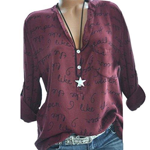 blusen damen lässig chiffon shirt hemd sexy pullover