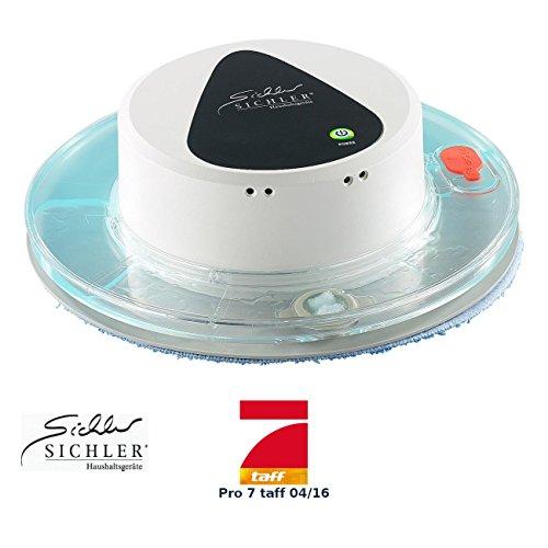 Sichler Haushaltsgeräte Wischroboter: Boden-Wisch-Roboter PCR-1130 für Nass- und Trockenreinigung Bodenwischroboter Nass