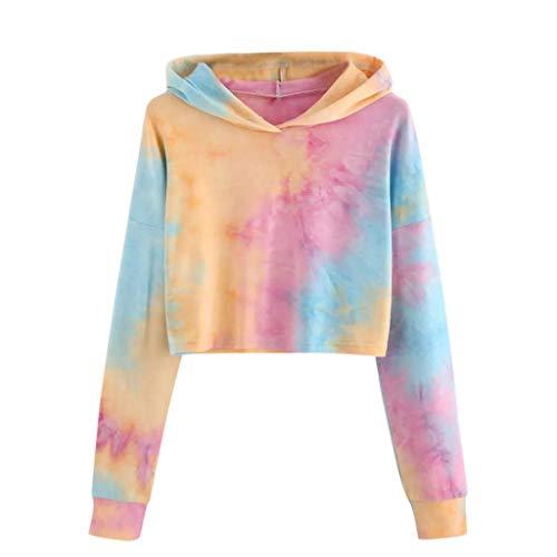 ABsoar Kapuzenpullover Damen Patchwork Hoodies Frauen Gedruckt Lange Hülsen Shirt mit Kapuze Pullover Oberseiten Sportshirt Streetwear
