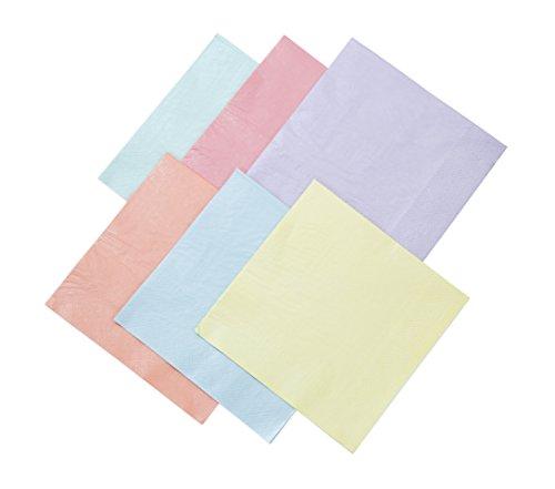 Talking Tables We Heart Pastels, Papierservietten, pastellfarben, 33 cm 16 Stück in 6 Farben