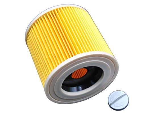 LeaBen® Patronen Filter geeignet für Nass-/ Trockensauger Nasssauger/Mehrzwecksauger/Waschsauger Kärcher A 2204 2254 2101 2201 WD2 WD3 MV2 MV3 WD2.200 WD3.500 P WD 3.200, wie 6.414-552.0