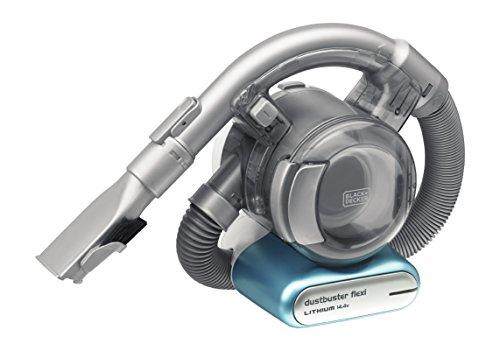 Beutel- und kabellos – Black+Decker Lithium Dustbuster Flexi PD1420LP – 14,4V Akku Handstaubsauger mit flexiblem Saugschlauch – 1 x Staubsauger inkl. Ladestation, Flusen- und Haaraufsatz