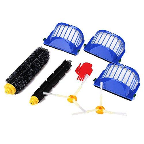 bobo4818 Smartide Kit für den irobot Roomba 585 595 600 610 620 630 650 660 Staubsauger Ersatz enthält Filter, 2 Stück 3-Arm-Seite, 1 Stk