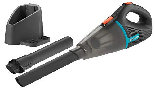 GARDENA- Outdoor Handsauger EasyClean Li: Akku-Sauger für feuchte und trockene Partikel, integrierter Li-Ionen-Akku, hohe Saugleistung 9339-20