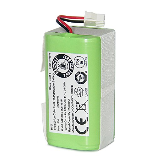 Coredy Replacement Battery, 2600mAh, 14.4V, 36Wh, Compatible with All Robot Vacuum Cleaners, Model BA01