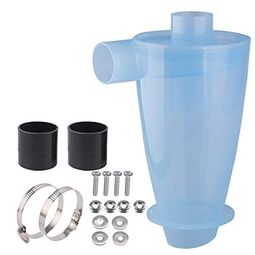 Vinteky® Filter Zyklon transparent Staubabscheider Staubabsauger Filter Abscheider Hochleistungszyklon Pulver Staub Sammler Filter