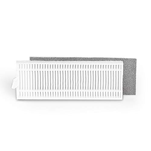 Coredy Replacement Washable High Efficiency Filter Kit, Use with 2nd Generation Dust Bin, 2pcs, Model FT02