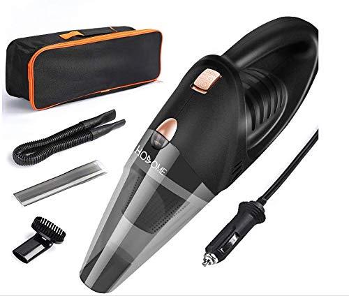 Hosome Auto Staubsauger DC 12V Autostaubsauger mit HEPA-Filter, tragbare Tasche, Handstaubsauger für KFZ Auto, 4KPA Saugkraft, 5M Netzkabel, 3 Düsen