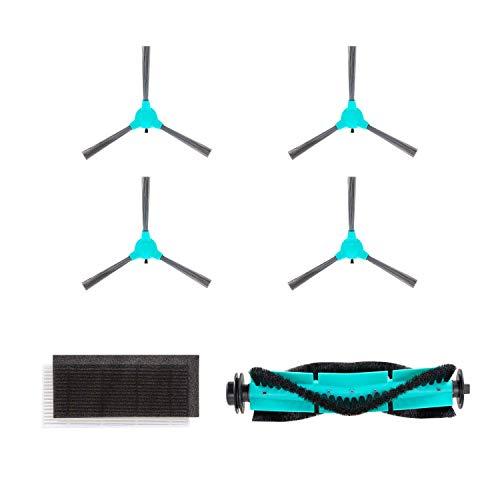 DEENKEE DK600 Staubsauger Roboter Zubehör, saugroboter Ersatzteile 4xSeitenbürsten, 1xHEPA-Filter, 1xZentrale Bürste